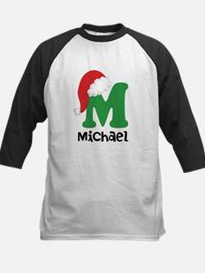 Christmas Santa Hat M Monogram Baseball Jersey