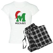 Christmas Santa Hat M Monogram Pajamas