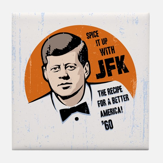 JFK Recipe Tile Coaster