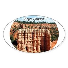 Bryce Canyon, Utah, USA (oval caption) Decal