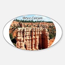 Bryce Canyon, Utah, USA (oval caption) Decal