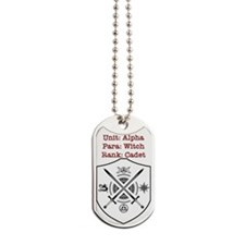 Bewitched And Bewildered Unit Alpha Witch Dog Tags