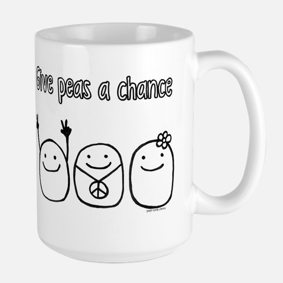 Give peas a chance Large Mug