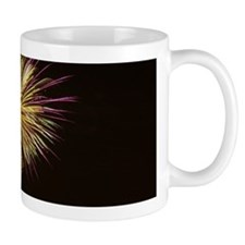 Purple and Gold Firework display Mugs