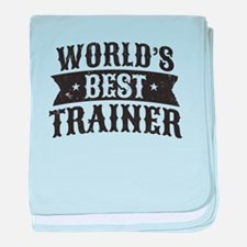 World's Best Trainer baby blanket