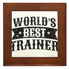 World's Best Trainer Framed Tile