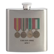 USS San Jose Flask