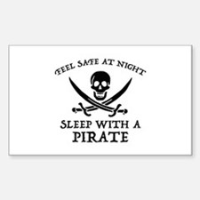 Sleep With A Pirate Sticker (Rectangle)