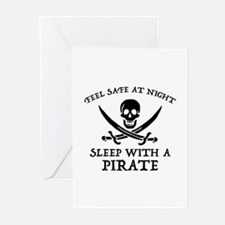 Sleep With A Pirate Greeting Cards (Pk of 20)