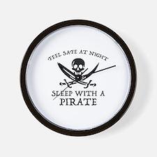 Sleep With A Pirate Wall Clock