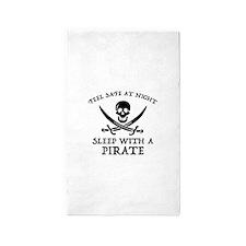 Sleep With A Pirate 3'x5' Area Rug