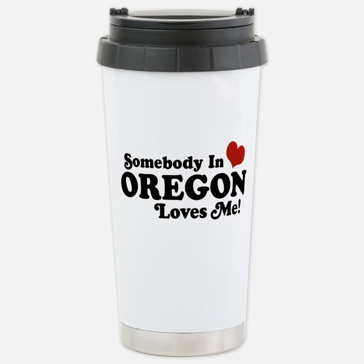 Cute Oregon love Travel Mug