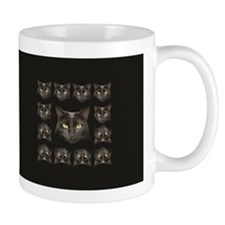 Black cat pattern 2 Mugs