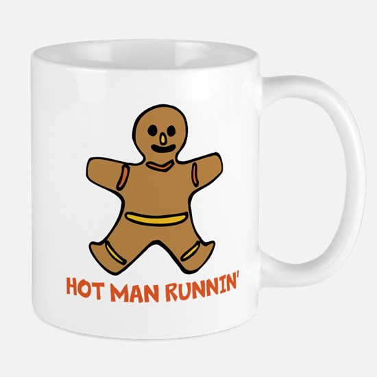 Hot Man Runnin Mugs