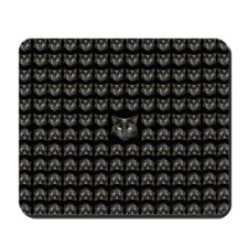 Black cat pattern 3 Mousepad