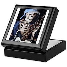 Skinney Skeleton Rocks On Keepsake Box