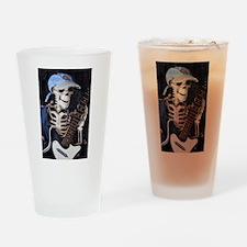 Skinney Skeleton Rocks On Drinking Glass
