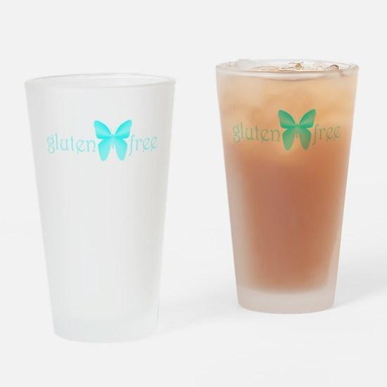 Gluten-Free Butterfly, Teal Drinking Glass