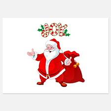 Joyful Santa - Invitations