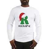 Christmas santa d monogram Long Sleeve T Shirts