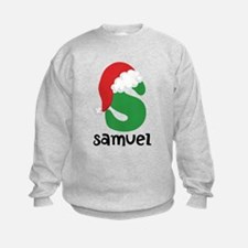 Christmas Santa Hat S Monogram Sweatshirt