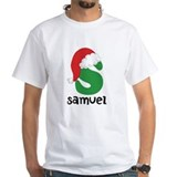 Christmas santa d monogram Mens White T-shirts