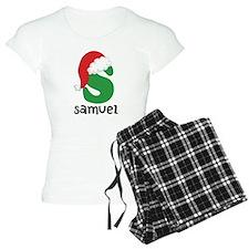 Christmas Santa Hat S Monogram Pajamas