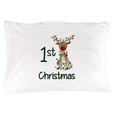 First Christmas Reindeer Pillow Case