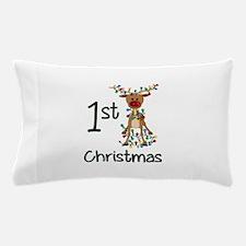 First Christmas Reindeer Pillow Case