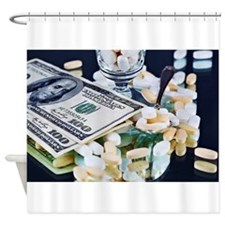Drugs and Money Shower Curtain