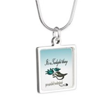 It's a Twilight Thing Silver Square Necklace