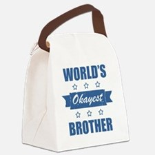World's Okayest Brother Canvas Lunch Bag