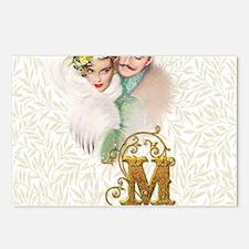 Monogram M Art Deco Lover Postcards (Package of 8)