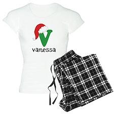 Christmas Santa Hat V Monogram Pajamas