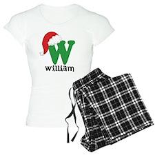 Christmas Santa Hat W Monogram Pajamas