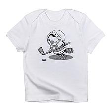 Ice Hockey Penguin (b&w) Infant T-Shirt