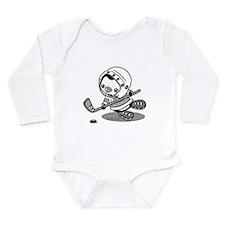 Ice Hockey Penguin (b& Long Sleeve Infant Bodysuit
