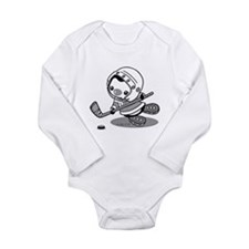 Ice Hockey Penguin (b& Onesie Romper Suit