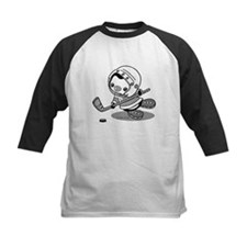 Ice Hockey Penguin (b&w) Tee