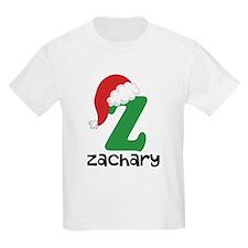 Christmas Santa Hat Z Monogram T-Shirt