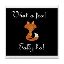 What a fox.JPG Tile Coaster