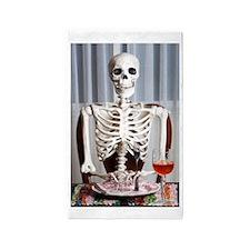 Skinny Skelton at Dinner Area Rug