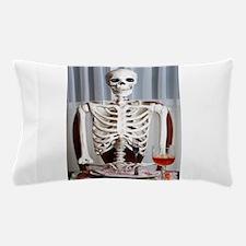 Skinny Skelton at Dinner Pillow Case