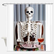 Skinny Skelton at Dinner Shower Curtain
