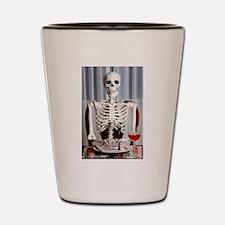 Skinny Skelton at Dinner Shot Glass