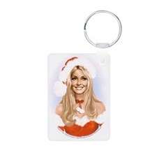 Sharon Tate Santa Keychains