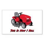 This Is How I Roll Mower Rectangle Sticker