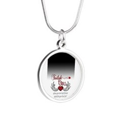 Twilight Girl Silver Round Necklace