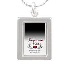 Twilight Girl Silver Portrait Necklace