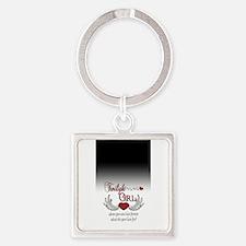 Twilight Girl Square Keychain